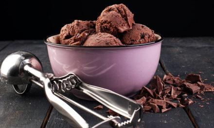 Dark Chocolate Vegan Ice Cream with Turmeric