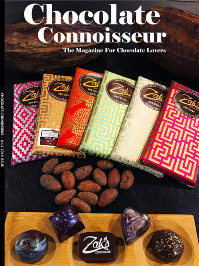 Chocolate Connoisseur Magazine July 2018 Issue Cover