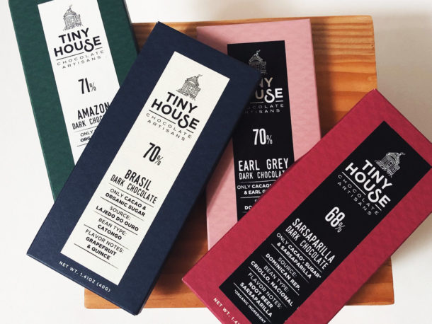 Tiny House Chocolate Four Bar Collection