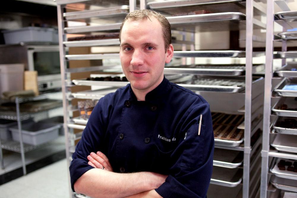 Bryan Graham in the Fruition Chocolate Works Kitchen