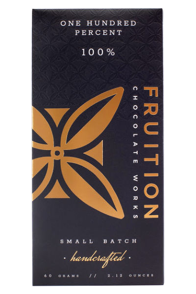 Fruition Chocolate Works One Hundred Percent Bar