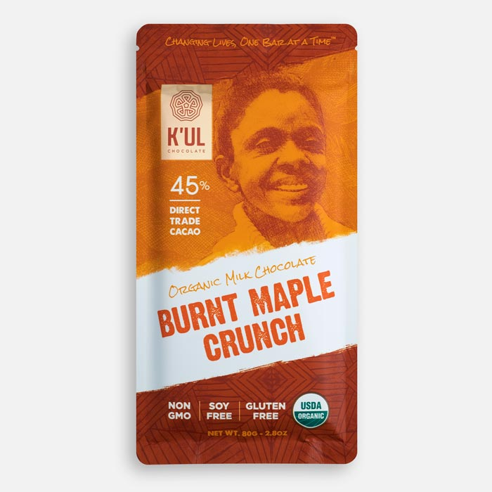 Kul Chocolate Burnt Maple Crunch Chocolate Bar