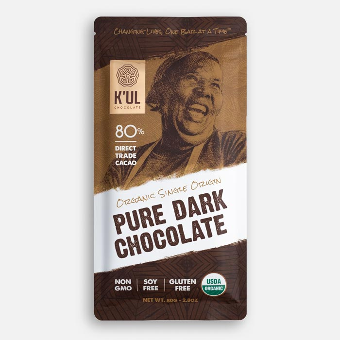 Kul Chocolate Pure Dark Chocolate Bar