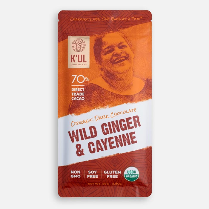 Kul Chocolate Wild Ginger and Cayenne Chocolate Bar